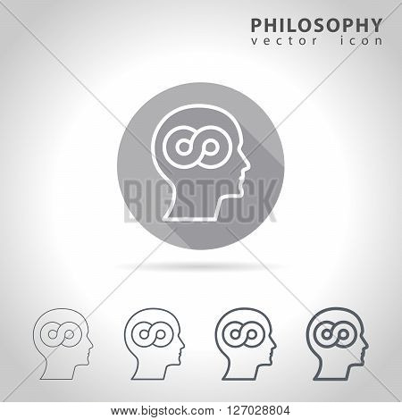 Philosophy outline icon set, collection of philosophy icons, vector illustration