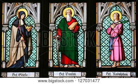 Stained Glass - Saints Gisela, Paul And Rudolph