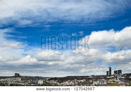 View to cityline of Queretaro city in Mexico