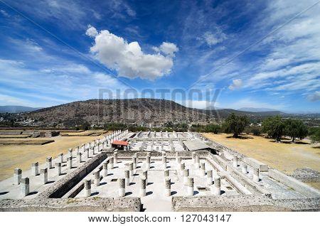 Ruins of ancient Toltec civilization in Tula