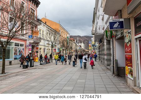 Pedestrian Zone In The City Centre Of Zilina