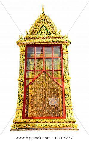 Window Of Wat Ratchanatdaram Temple