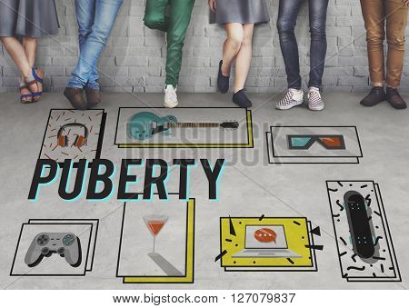Puberty Adolescence Age Change Growth Life Concept