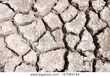 Dry cracked bed of an ephemeral lake in Western Australia.
