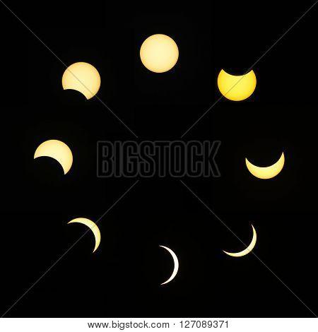 Partial Solar Eclipse Collage