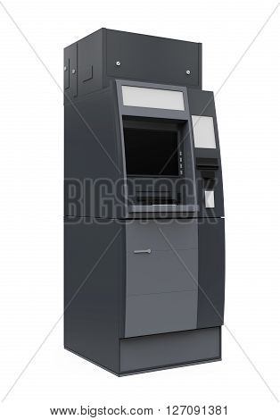 Automated Teller Machine isolated on white background. 3D render