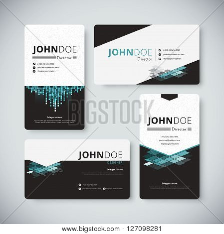 Modern Creative And Clean Business Card Template. Modern Business Card Vector.