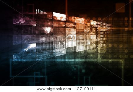 Technology Infrastructure as a IT Abstract Art