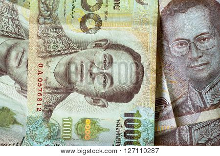 Thai Baht background. Currency is the responsibility of the Bank of Thailand.