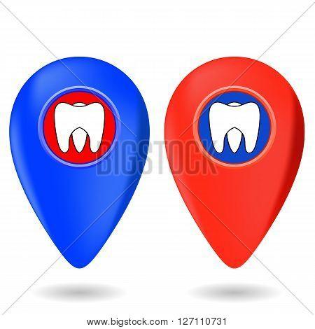 Dentist Icon, Dentist Red Marker, Dentist Red Icon, Dentist Icon Blue, Dentist Marker Blue, Dentist I, Dentist icon Set, Dentist Icon Isolated on White, Dentist Icon Web, Dentist Icon Art.