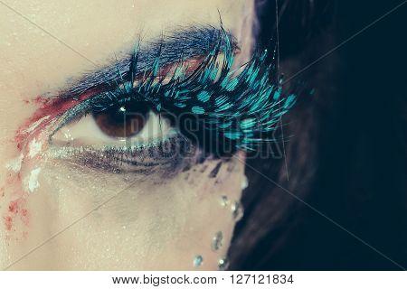 Painted Female Eye