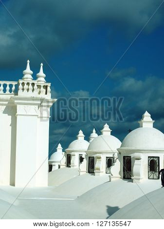 rooftop domes Cathedral of Leon Nicaragua Central America