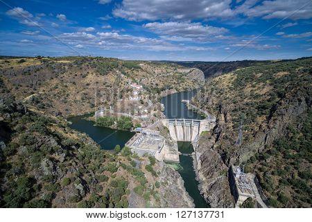 Salto de Castro, Aerial view of Dam