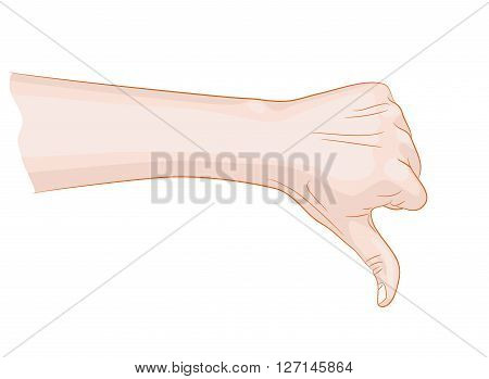 thumb down symbol vector illustration bad thing