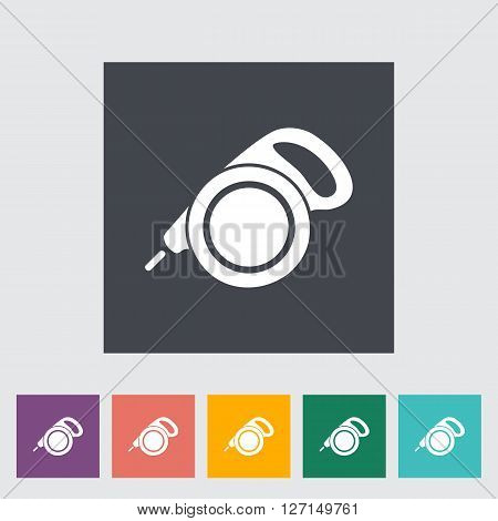 Retractable lead icon. Flat vector related icon for web and mobile applications. It can be used as - logo, pictogram, icon, infographic element. Vector Illustration.