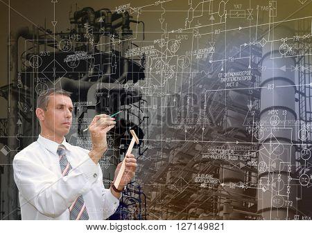 Industrial engineering technology, Engineer designer with engineering scheme