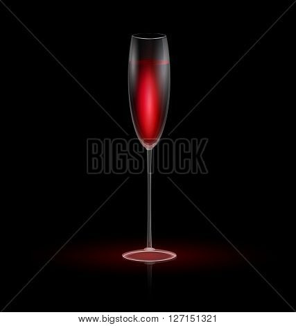 dark background and the glass of red wine