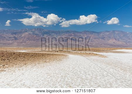View of Badwater Basin Death Valley National Park