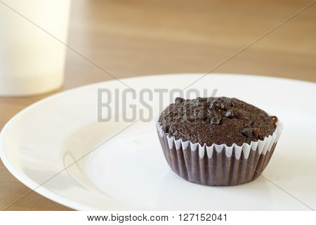 delicius  of banana cup cake on plate
