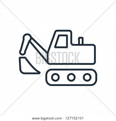 excavating machine icon. Vector illustration. Vector symbols.
