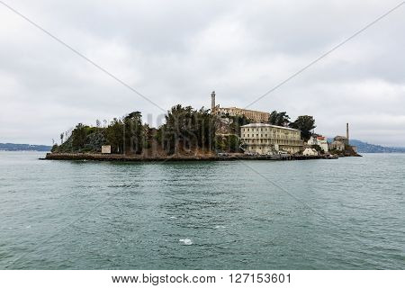 San Francisco, California - September 17: Exterior Views Of The Alcatraz Island In San Francisco On