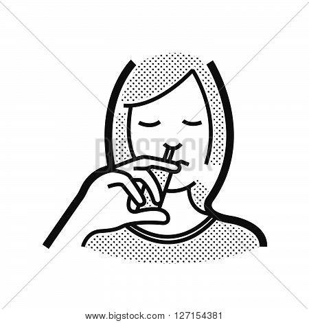Otolaryngology using nasal spray icon, vector design eps10.
