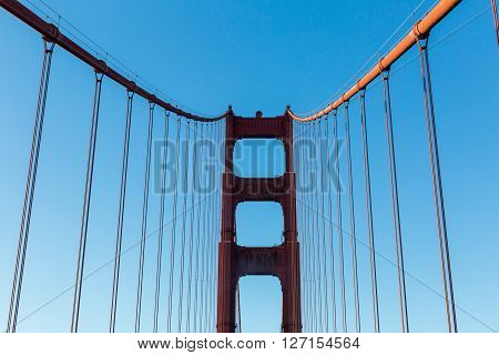 View of the Golden Gate Bridge at daytime poster