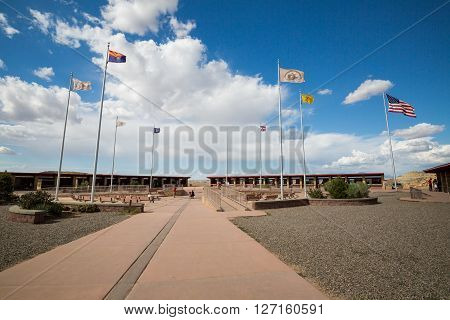 FOUR CORNERS MONUMENT USA - AUGUST 27: Views of the Four Corners Monument at August 27 2015. Its the point whre four American State come togheter.