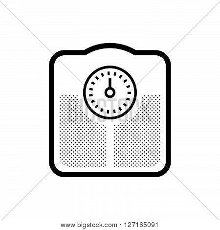 Medical Device Icon Bathroom scales vector design EPS10.