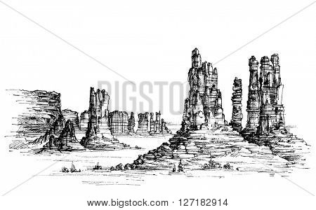 Wild west iconic landscape