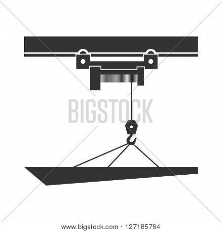 Overhead crane. Isolated on background. Vector illustration