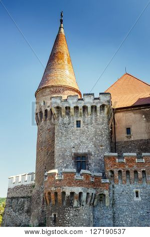 Famous Corvin Castle in Hunedoara Romania, Europe