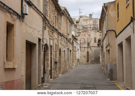 On the streets of small town Pollenca on Mallorca island, Spain