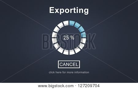 Exporting Convert Loading Progress Concept