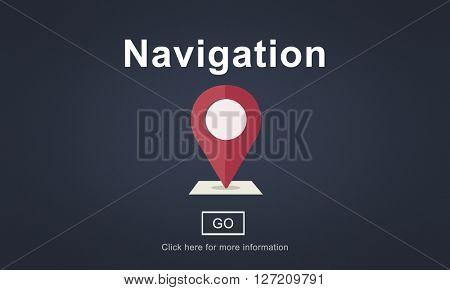 Navigation Position Maps Services Concept