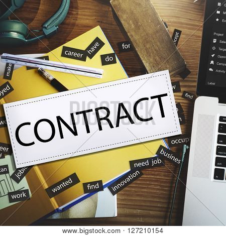 Contract Employment Deal Settlement Solution Concept