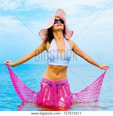 Beauty Model Beach