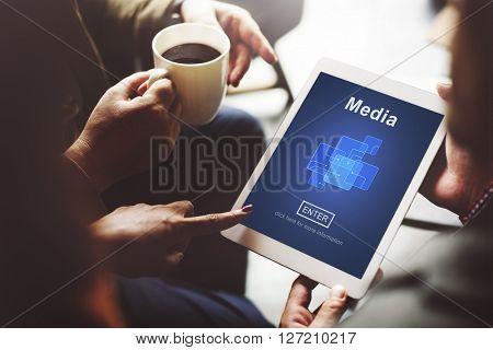 Media Social Media Internet Online Technology Concept