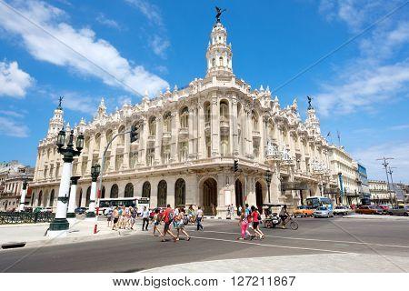 HAVANA,CUBA - APRIL 20,2016 : The Great Theater of Havana on a beautiful sunny day