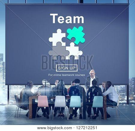 Team Teamwork Homepage Collaboration Concept