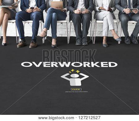 Overworked Depression Emotion Exhaust Problem Concept