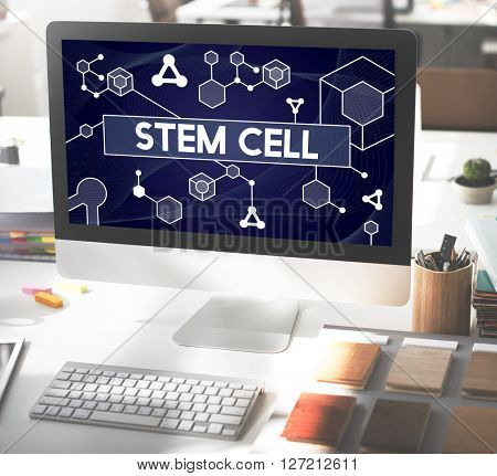 Science Stem Cell Technology Atom Dna Concept