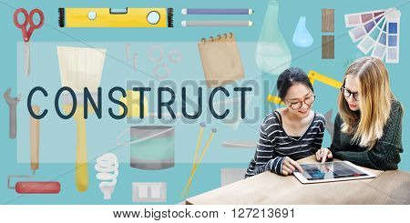 Construct Construction Equipment Architect Concept