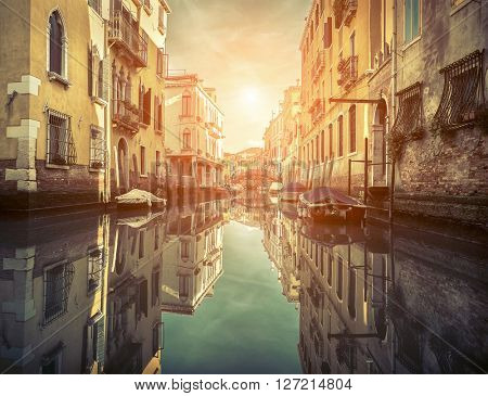 Beautiful view in Venice, Italy.