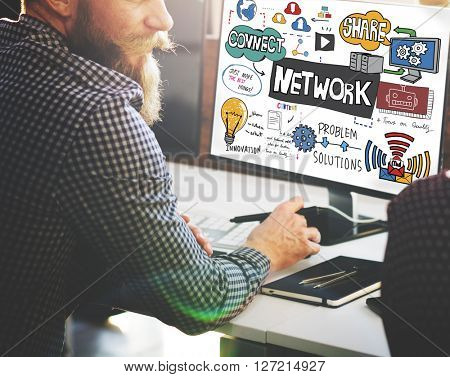 Network Connection Technology Digital Modern Concept