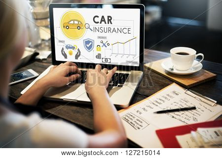 Car Insurance Policies Safety Coverage Concept