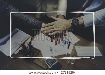 Business Partnership Handshake Team United Concept