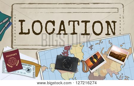 Location Destination Route Direction Travel Holiday Concept
