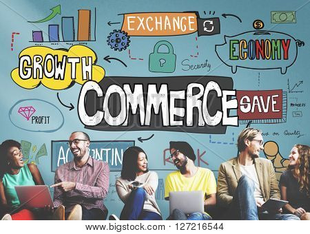 Commerce Marketing Business Organization Strategy Concept