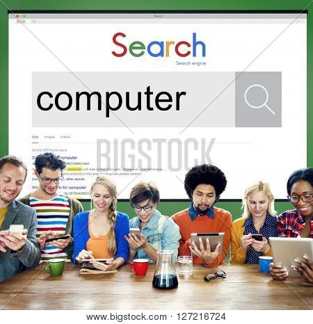 Computer Technology Digital Device Hardware Software Concept
